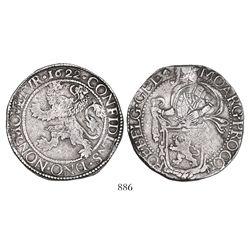 """Gelderland, United Netherlands, """"lion"""" daalder, 1622."""