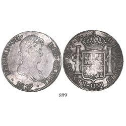 Lima, Peru, bust 8 reales, Ferdinand VII, 1817JP.