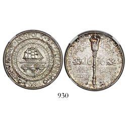 USA (Philadelphia mint), commemorative half dollar, 1936, Norfolk (Virginia) bicentennial, encapsula