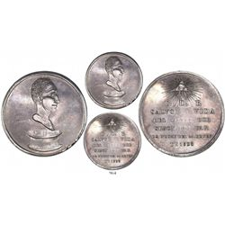 Venezuela, silver medal, deliverance of Simon Bolivar from assassination in 1828 (struck 1829), very