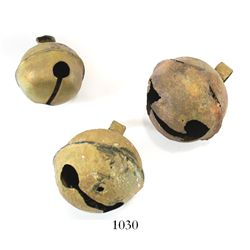 Lot of 3 brass crotal bells from Shipwreck.