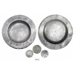 Atocha 1622 Intact silver plate with tax stamps and owner's mark.
