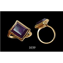 Gold-and-amethyst ring (~22K), about 3-4 carats  from 1715 Fleet.