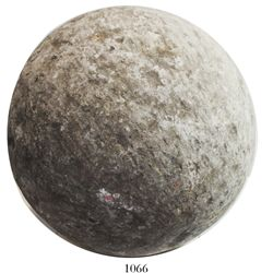 Large stone cannonball for mortar/bombard, Spanish Armada (1588).