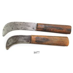 Pair of British naval rigging knives, mid-1800s, manufactured in Sheffield, England (marked).