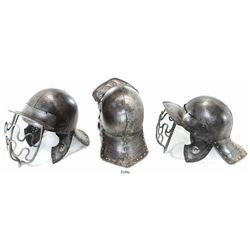 Northern European steel horseman's helmet, ca. 1650-80.