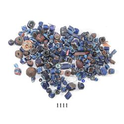 Lot of hundreds of small glass trade beads and small crystals, Spanish colonial, 1500s-1600s.