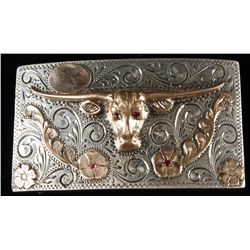 Mexican Long horn Belt Buckle