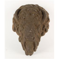 Heavy Cast Iron Buffalo Head