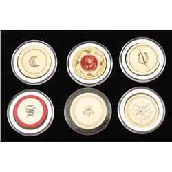 Old West Ivory Gambling Poker Chips