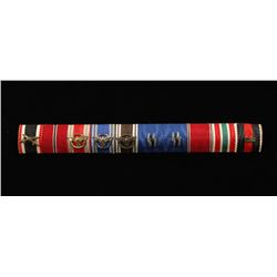 German WWII Waffen SS 10 Place Ribbon Bar