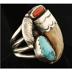 Silver Men's Ring by Navajo Artist Ben Duboise