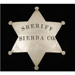 Old West Sheriff Sierra County CA Law Badge