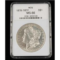 1878 7/8tf MS-66