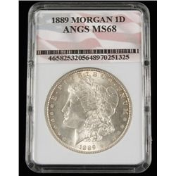 1889 Morgan 1D ANGS MS68