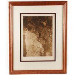 Original period E.S. Curtis Sepia Tone Print