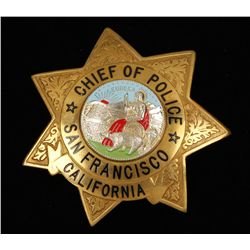 Obsolete Chief of Police San Francisco CA Badge