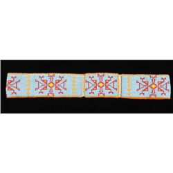 Sioux Fully Beaded Belt and Buckle