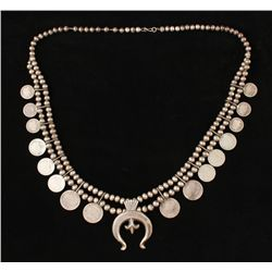 Old Coin Squash blossom necklace
