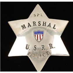 Old West United States Railroad Marshall Law Badge