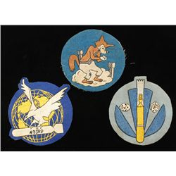 3 USAAF WWII Army Air Corps Bomb Squadron Patches