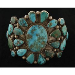 High quality Vintage Cluster Cuff Bracelet