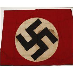 German WWII NSDAP Political Swastika Banner Flag