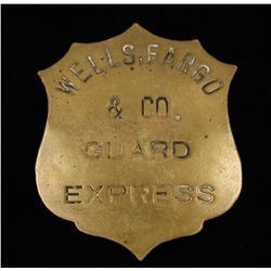 Old West Wells Fargo & Co Express Guard Badge