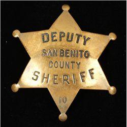 Antique San Benito County CA Deputy Sheriff Badge