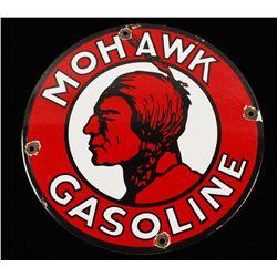 Vintage Mohawk Gasoline Porcelain Sign