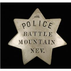 Old West Battle Mountain Nevada Police Law Badge