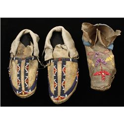 Old West Cheyenne Child's Beaded Moccasins