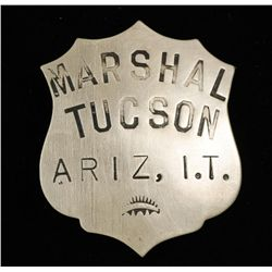 Old West Marshal Tucson AZ Indian Territory Badge
