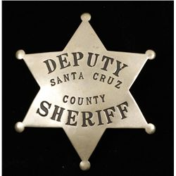 Santa Cruz County CA Deputy Sheriff Police Badge