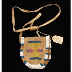 Apache Indian Man's Beaded Medicine Bag