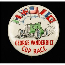 Pre WWII George Vanderbilt Race Car Cup Badge