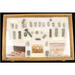 Display Case of Little Big Horn Battleground Relic