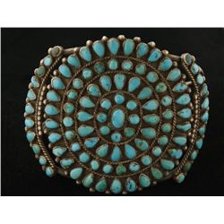 Traditional Old Pawn Turquoise Cluster Bracelet