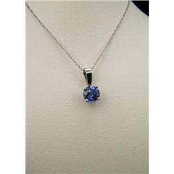 Classic Blue Ceylon Sapphire Solitaire Pendant.