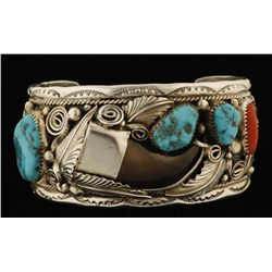 Heavy Sterling Silver Claw Cuff by Mike Thomas, Jr