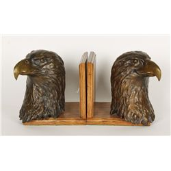 Beautiful Bronze Eagle Bookends