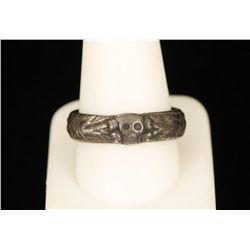 German WW2 Waffen SS Totenkopf Officers Honor Ring