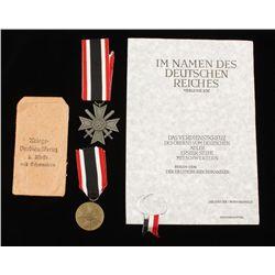 German WWII Class War Service Cross With Swords