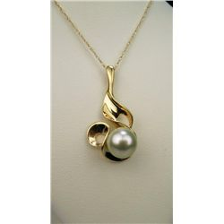 Artistic Free Form 8.00 mm Pearl Pendant.