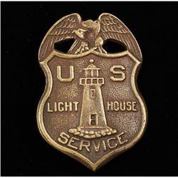 Vintage US light House Service Badge