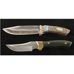 Lot of 2 Fixed Blade Knives