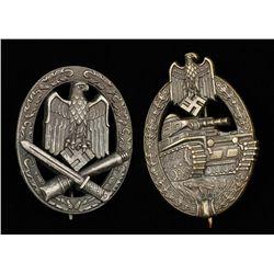 German WWII Army Bronze Tank Assault Badge