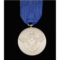 German WWII Police 8 Year Long Service Decoration