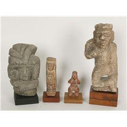 Lot of 4 Pre Columbian items