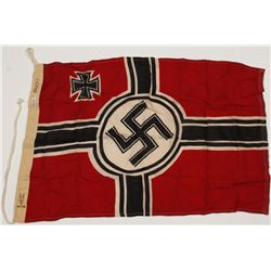 German WWII Naval Swastika Combat Flag